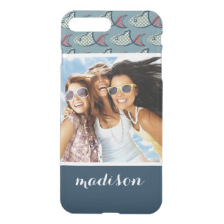 Coque iPhone 8 Plus/7 Plus Motif | de poissons de point de polka votre photo