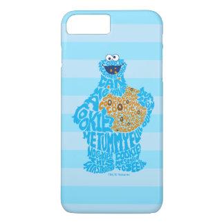 Coque iPhone 8 Plus/7 Plus Motif de remplissage de monstre de biscuit