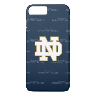 Coque iPhone 8 Plus/7 Plus Motif de répétition de Notre Dame |