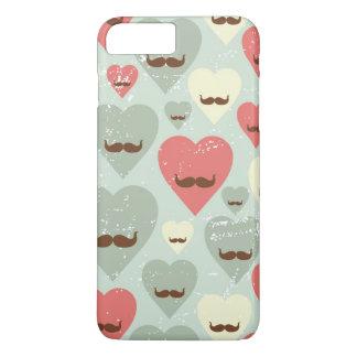 Coque iPhone 8 Plus/7 Plus Motif de Valentine avec le coeur et la moustache