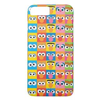 Coque iPhone 8 Plus/7 Plus Motif de yeux de caractère de Sesame Street