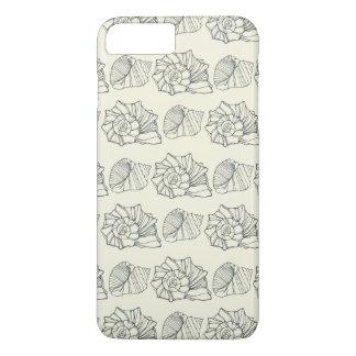 Coque iPhone 8 Plus/7 Plus Motif décoratif de coquilles
