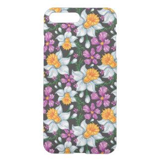 Coque iPhone 8 Plus/7 Plus Motif d'élégance avec les fleurs 2 de narcisse
