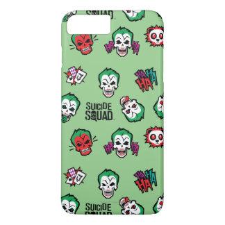 Coque iPhone 8 Plus/7 Plus Motif d'Emoji de joker du peloton | de suicide