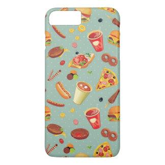 Coque iPhone 8 Plus/7 Plus Motif élégant d'aliments de préparation rapide