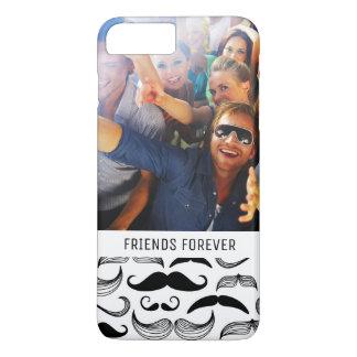 Coque iPhone 8 Plus/7 Plus Motif fait sur commande 2 de moustache de photo et