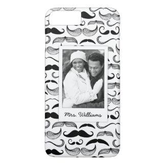 Coque iPhone 8 Plus/7 Plus Motif fait sur commande 2 de photo et de moustache