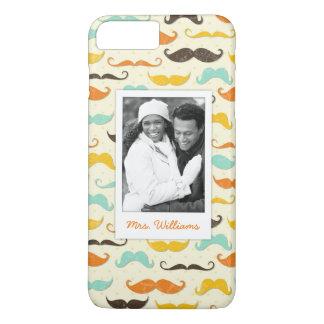 Coque iPhone 8 Plus/7 Plus Motif fait sur commande 3 de photo et de moustache