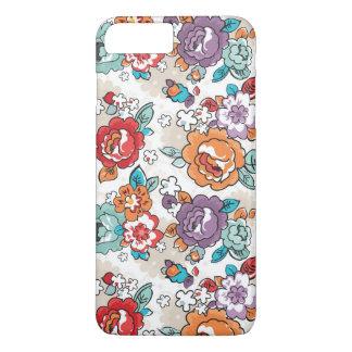 Coque iPhone 8 Plus/7 Plus Motif floral 5 d'élégance abstraite