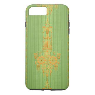Coque iPhone 8 Plus/7 Plus Motif floral baroque avec la frontière…