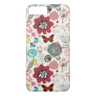 Coque iPhone 8 Plus/7 Plus Motif floral dans le rétro style 5