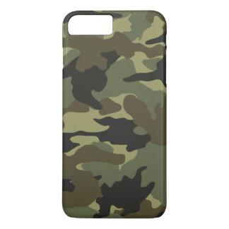 Coque iPhone 8 Plus/7 Plus Motif kaki vert frais de camouflage de Camo mince
