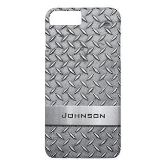 Coque iPhone 8 Plus/7 Plus Motif métallique de plat coupé par diamant frais