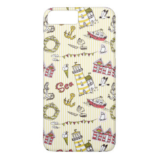 Coque iPhone 8 Plus/7 Plus Motif mignon de scène de plage
