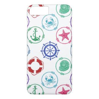 Coque iPhone 8 Plus/7 Plus Motif nautique coloré