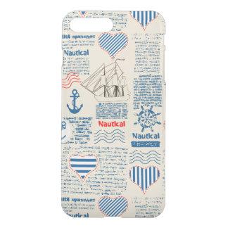 Coque iPhone 8 Plus/7 Plus Motif nautique de journal