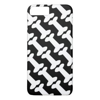 Coque iPhone 8 Plus/7 Plus Motif noir et blanc mignon d'os de chien