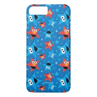 Coque iPhone 8 Plus/7 Plus Motif patriotique d'Elmo et de monstre de biscuit