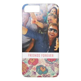 Coque iPhone 8 Plus/7 Plus Motif photo et de pivoine et de feuille faits sur