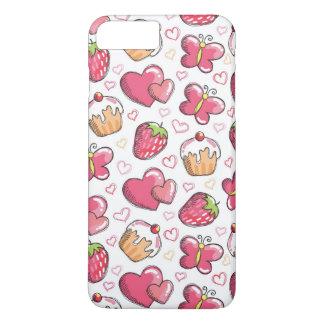 Coque iPhone 8 Plus/7 Plus motif romantique de nourriture