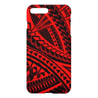 Coque iPhone 8 Plus/7 Plus Motif Samoan coloré de tatouage