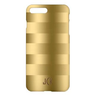 Coque iPhone 8 Plus/7 Plus Motif simple de rayures d'or