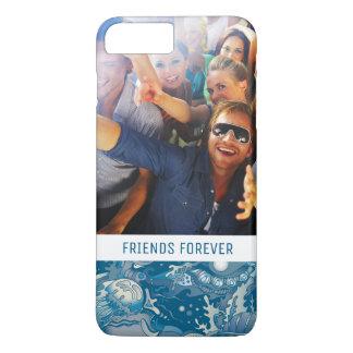 Coque iPhone 8 Plus/7 Plus Motif tropical   de mer votre photo et texte