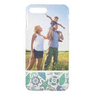 Coque iPhone 8 Plus/7 Plus Motif turquoise d'animaux de mer de photo faite