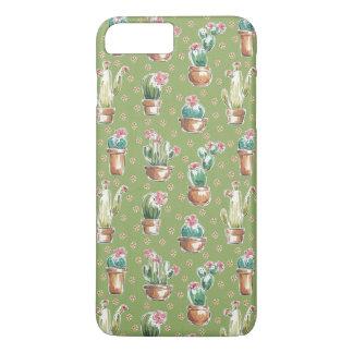 Coque iPhone 8 Plus/7 Plus Motif vert d'étape | de fleur de désert