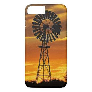 Coque iPhone 8 Plus/7 Plus Moulin à vent et coucher du soleil, crique de