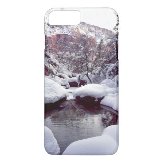 Coque iPhone 8 Plus/7 Plus Neige profonde aux piscines vertes moyennes