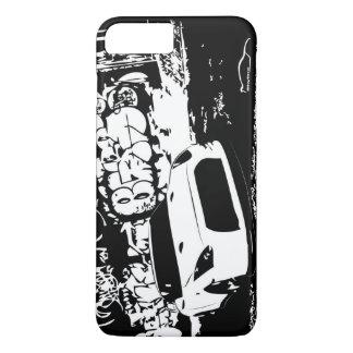 Coque iPhone 8 Plus/7 Plus Nissan Skyline GTR avec le contexte de graffiti