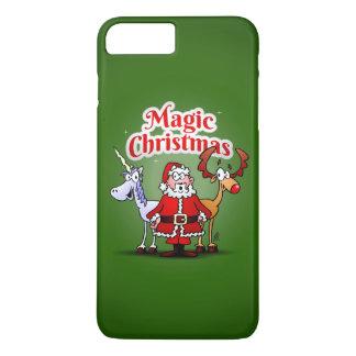 Coque iPhone 8 Plus/7 Plus Noël magique avec une licorne
