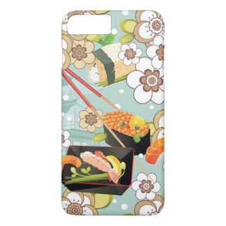 Coque iPhone 8 Plus/7 Plus Nourriture japonaise : Motif 4 de sushi