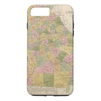 Coque iPhone 8 Plus/7 Plus Nouvelle carte de la Géorgie