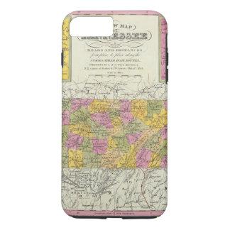 Coque iPhone 8 Plus/7 Plus Nouvelle carte du Tennessee