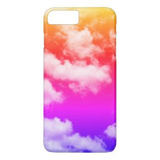 Coque iPhone 8 Plus/7 Plus Nuages tropicaux d'arc-en-ciel