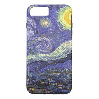 Coque iPhone 8 Plus/7 Plus Nuit étoilée de Van Gogh, paysage vintage de