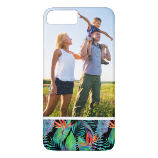Coque iPhone 8 Plus/7 Plus Oiseau d'aquarelle de photo du paradis fait sur