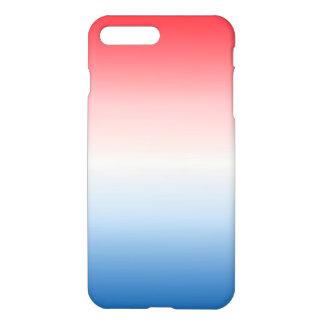 Coque iPhone 8 Plus/7 Plus Ombre blanc et bleu rouge