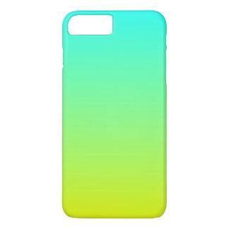 Coque iPhone 8 Plus/7 Plus ombre jaune citron de vert de chaux de mode de