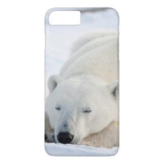 Coque iPhone 8 Plus/7 Plus Ours blanc en hiver
