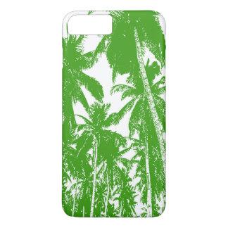 Coque iPhone 8 Plus/7 Plus Palmiers tropicaux dans vert et le blanc