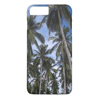 Coque iPhone 8 Plus/7 Plus Palmiers tropicaux en couleurs