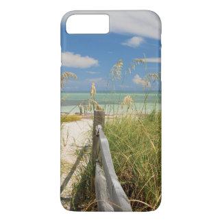 Coque iPhone 8 Plus/7 Plus Paniculata d'Uniola d'avoine de mer) s'élevant par