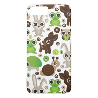 Coque iPhone 8 Plus/7 Plus papier peint d'animal de lapin de tortue de cerfs
