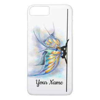Coque iPhone 8 Plus/7 Plus Papillon de danse de Polonais avec le nom de