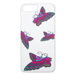 Coque iPhone 8 Plus/7 Plus Papillons roses