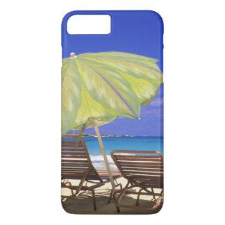Coque iPhone 8 Plus/7 Plus Parapluie de plage, Abaco, Bahamas