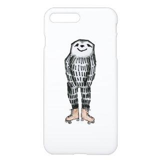 Coque iPhone 8 Plus/7 Plus Paresse sur des patins de rouleau